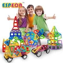 Espeon 77 pcs Tamanho Normal Crianças Tijolos Educacionais Brinquedos Magnéticos Magnético Brinquedo Designer Praça Triângulo 3D DIY Construção de