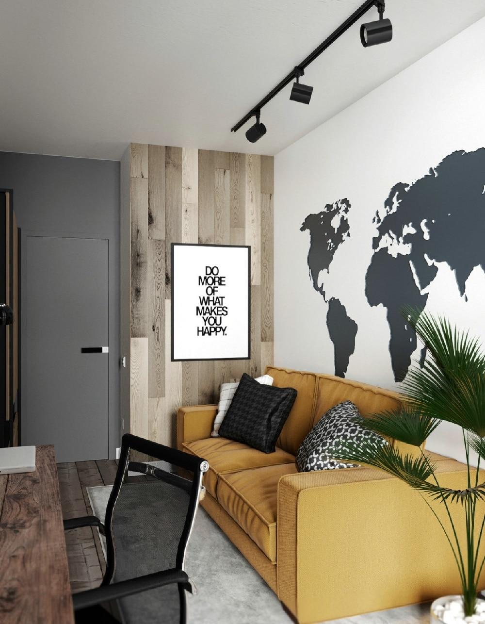 中央华府装修效果图:三居室现代简约风