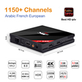 H96 Pro + com Melhor hd Europa REINO UNIDO 1150 + Canais de IPTV Árabe Francês S912 Amlogic 3G/32G Android 6.0 Caixa de TV H.265 4 K Set Top Box