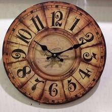 Meijswxj MDF Simple Wall Clock Saat Relogio de parede Duvar saati Creative Wooden Clock watches Living