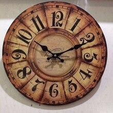Meijswxj MDF Simple Wall Clock Saat Relogio de parede Duvar saati Creative Wooden Clock watches Living Room Bedroom Wall Clocks