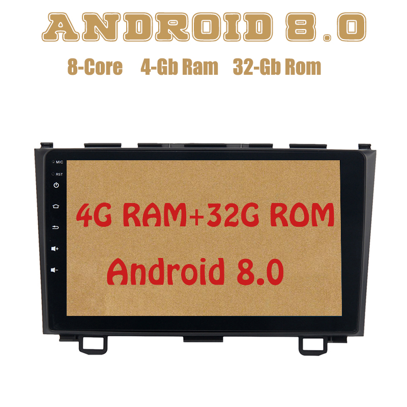 Octa core PX5 Android 8.0 car radio gps for Honda CRV 2007-2011 with 4G RAM 32G ROM wifi 4g usb Auto Stereo Multimed xiaomi redmi 5 plus