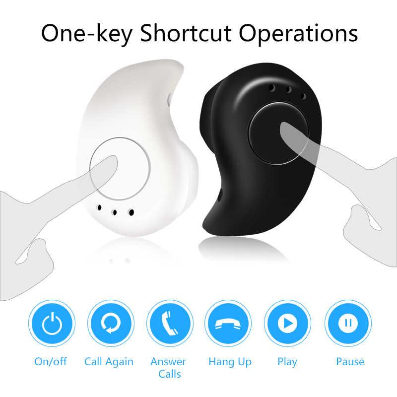 Mini bezprzewodowa Bluetooth słuchawki w uchu słuchawki S530 słuchawka do zestawu bezprzewodowego Bluetooth słuchawki douszne stereo zestaw słuchawkowy telefon