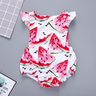 Watermelon Bodysuit Flutter Sleeve Princess Floral Infant Summer Newborn Kids Toddler Baby Onesie Newborn Clothes Dropshipping