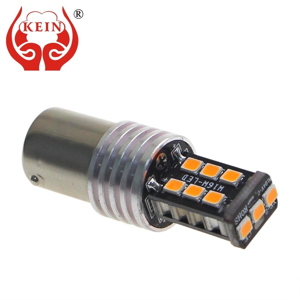 KEIN 2PCS 15SMD 6000k P21w 1156 ba15s galinis galinis žibintas 1157 bay15d P21 / 5W LED automobilis Stabdžių žibintai Signalinė lemputė 12V raudona geltona balta