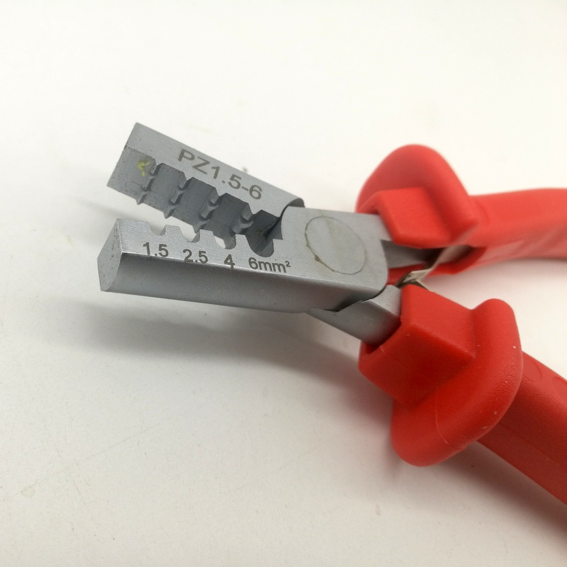Купить с кэшбэком PZ1.5-6 Germany Style Small Crimping Plier For Cable End Sleeves Special Tool Steel