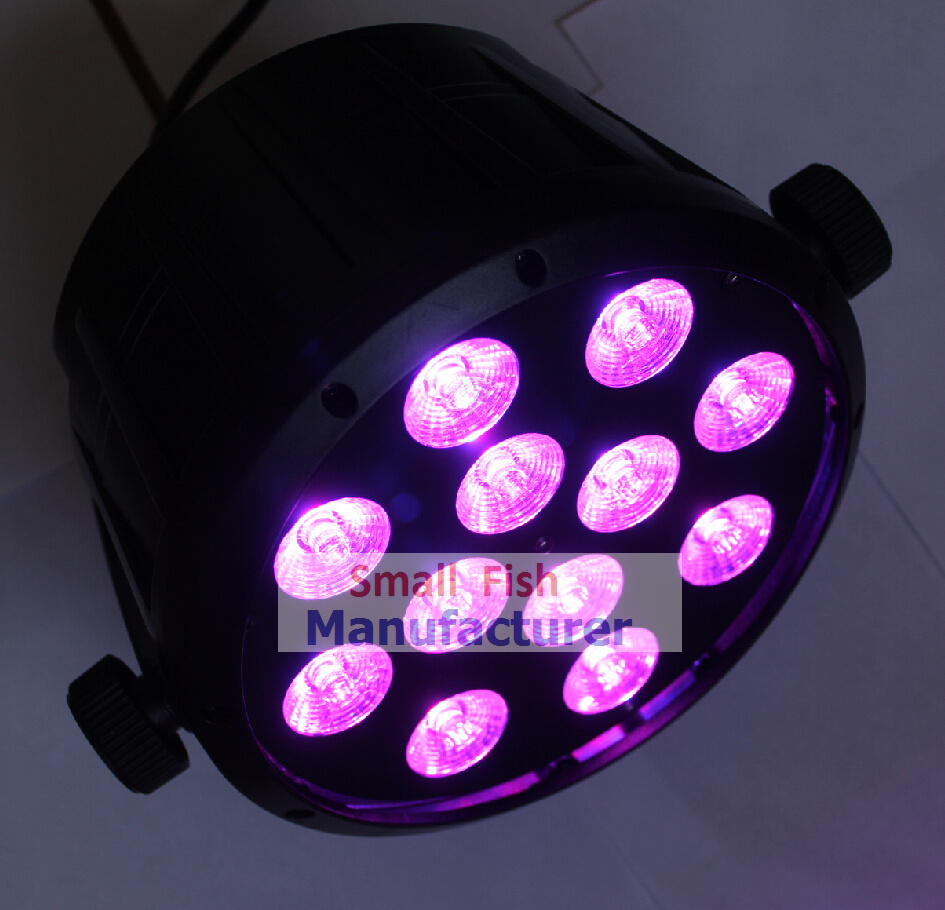 2015 Hot Led Par Can 12X10W 4in1 RGBW Led Slim Par Light Strobe DMX DJ Disco Professional Stage Light Equipment Laser Projector 2xlot 2016 led par can 7x10w rgbw 4in1 quad color mini par led dmx dj disco stage lights 70w moving head strobe effect projector