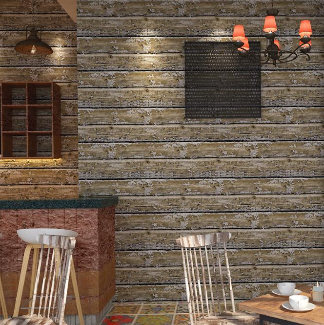 3D Embossed Wallpaper Roll Desktop Wallpaper Vinyl Wood Grain Modern TV Background PVC Wallpaper Living Room Decor Home Decor
