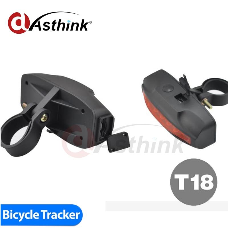 2000mAh Big Battery IPX7 Waterproof bicycle GPS Tracker T18 bike LED hidden gps trackers