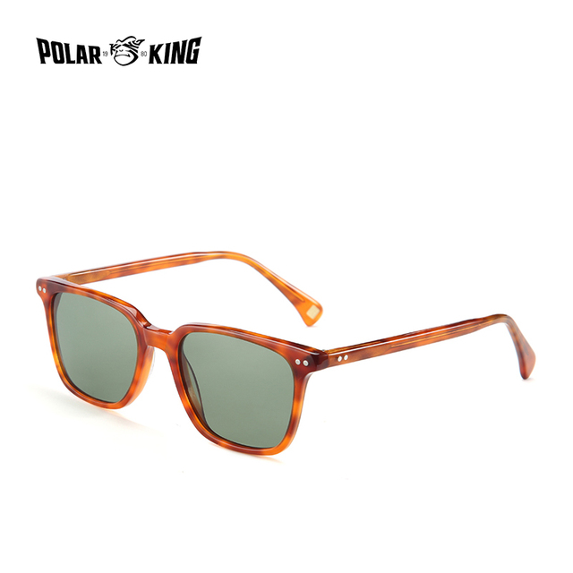 POLARKING 8037 Classic Square Polarized Sunglasses Acetate