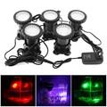 5 pcs 12 V LED Onderwater Spotlight Lamp 7 Kleuren Veranderen Waterdichte Spot Light voor Tuin Fontein Aquarium Zwembad vijver Verlichting