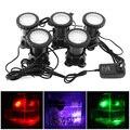 5 piezas 12 V LED bajo el agua de la lámpara del proyector 7 colores cambiantes impermeable luz del punto para la fuente del jardín de tanque de peces de piscina iluminación de estanque