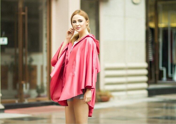 Мода Женщин Легкая Дышащая Пончо Дамы Водонепроницаемый Длинный Плащ Взрослых Открытый Туризм Плащ Плащи
