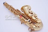 Gold Lacquer Brand Forestone Japan Alto Saxophone Eb tune Brass Woodwinds Instrument Sax E Flat Western Instruments Saxofone