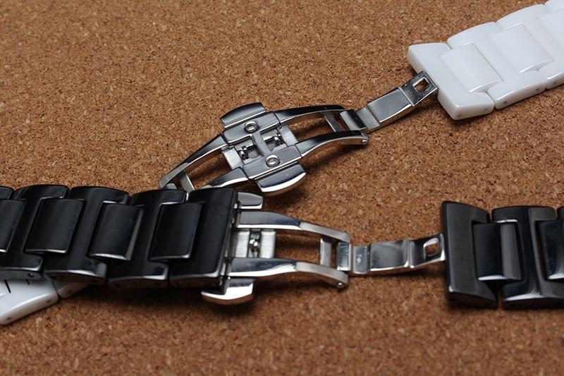 Keramik Armband Armbänder für Diamant Uhr Männer Frauen 14mm 16mm - Uhrenzubehör - Foto 4