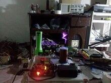 Plasma Speaker Arc loudspeaker music tesla coil amazing flashing Generator MIDI music Teaching experiment