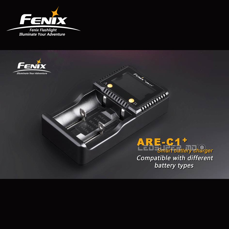 Factory Price Original Fenix ARE-C1+ Dual Channel Smart Battery Charger with LCD Screen and Car Charging Mode fenix are x1
