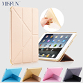 Caso para o ipad pro 9.7 polegadas 5 formas fold fique tpu macio inteligente glitter caso capa de silicone para o ipad 2 3 4 7 auto sleep/wake up