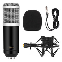 Bm-800 Professional Condenser Cardioid Computer Microphone Wired 3.5mm XLR Cable Shock Mount Studio Mic For PC Karaoke BM800
