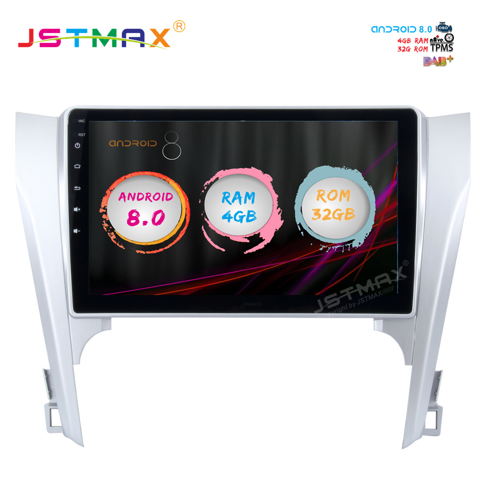 "Excellent JSTMAX 10.2"" Android 8.0 car dvd radio player for Toyota Camry 2012 2013 2014 gps navi Octa Core 4GB 32GB Auto Stereo(NO dvd) 0"