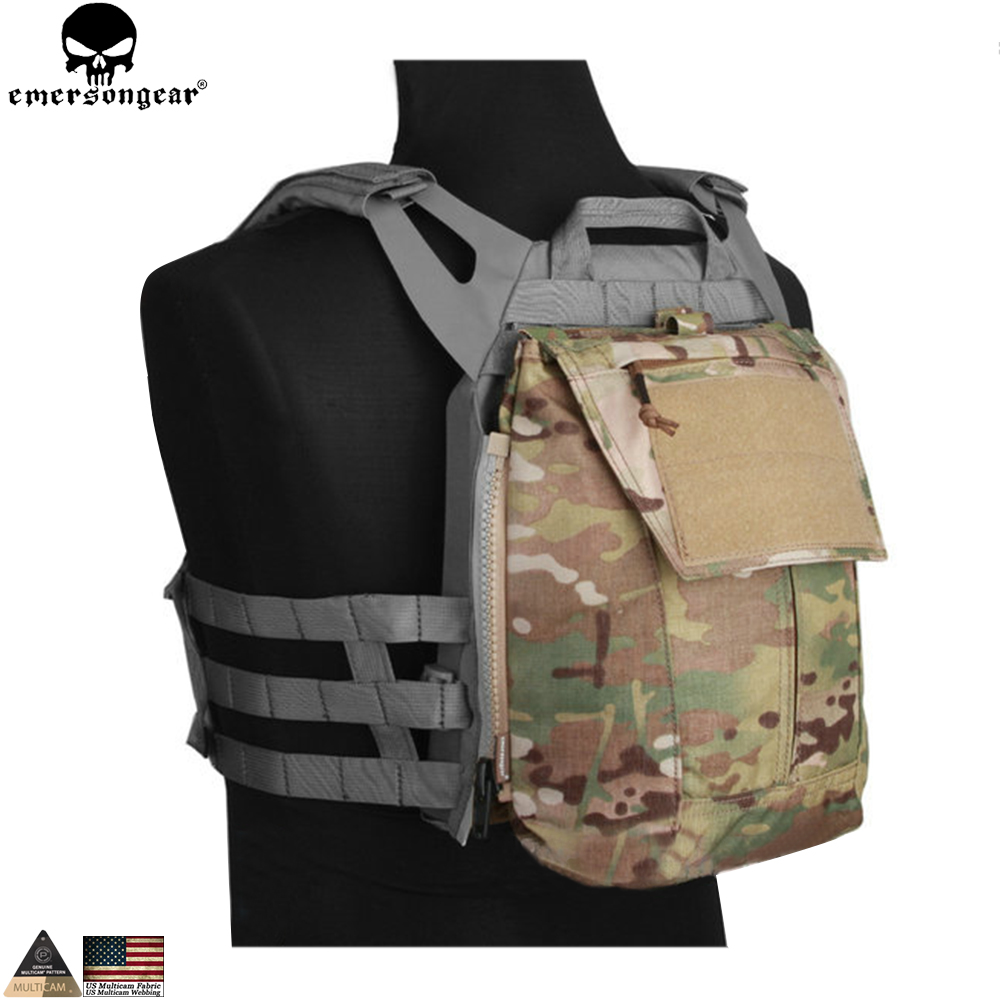 Pochette EMERSONGEAR avec fermeture éclair pour sac à dos tactique AVS JPC2.0 CPC sac de Combat Airsoft emerson EM8438