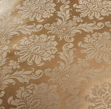 Luxury victorian vintage dark gold damask fabric wallpaper bedroom wallpaper wall covering non woven brown wallpaper w051 in wallpapers from home
