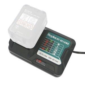 Image 1 - DC10WD ładowarka wymienić dla MAKITA akumulator 10.8 V 12 V BL1016 BL1040B BL1015B BL1020B BL10DC10SA CL107FDWY CL107DWM AC100 260V