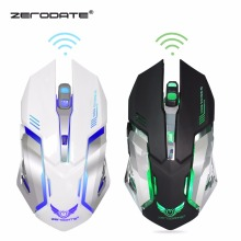 2.4GHz Wireless Mouse Gaming with 7 Colorful LED Backlit 2400 dpi 6 Buttons Ergonomic for PC Computer Gamer