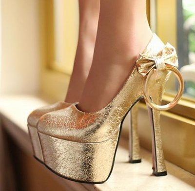 Free shipping 2014 new high heel shoes women dress party footwear fashion sexy pumps gold sliver LN0718 Hot sell size 33-40