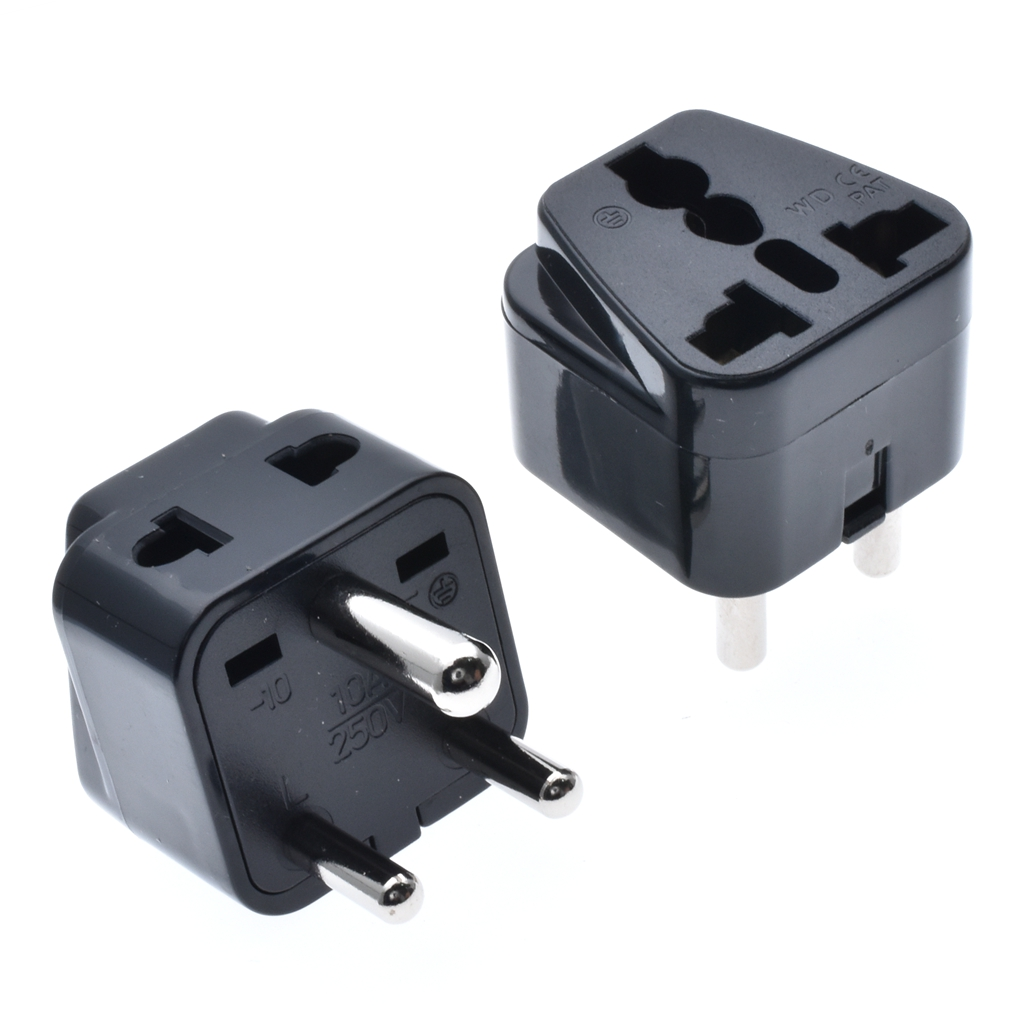 India Travel Adapter,Universal Receptacle to IS1293 Plug