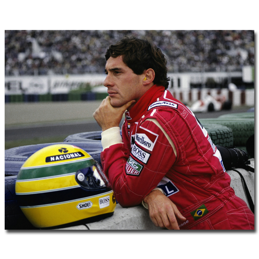 Ayrton Senna da Silva F1 Racer Art Silk Poster Print 13x18 24x32 inches Sports Pictures For Living Room Decor 017