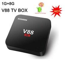 V88 Smart TV Box Rockchip 3229 Quad Core 4K H.265 1GB DDR3 RAM 8GB eMMC ROM Mini PC