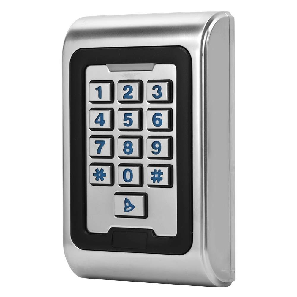 Door Access Control System Kit Card Access Control Password Keypad Door Entry System Safety with Waterproof Backlight Keyboard