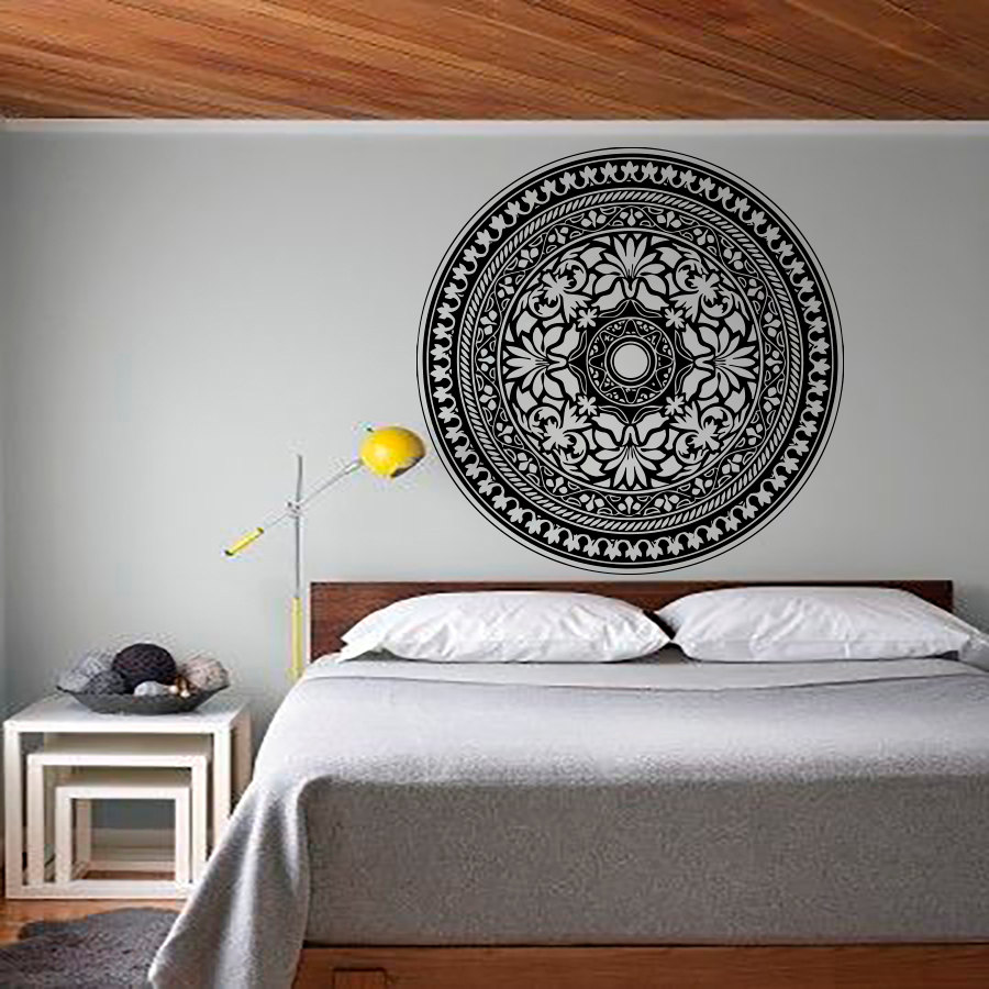 Mandala pattern yoga decals modern bedroom headboard wall sticker mandala pattern yoga decals modern bedroom headboard wall sticker waterproof art vinyl decal home decor in wall stickers from home garden on amipublicfo Images