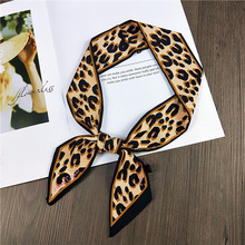New multi-functional printing scarf lady double-sided bag handle silk ribbon decorative headscarf neck