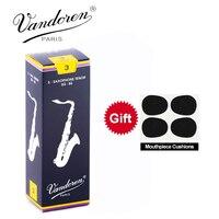 Original France Vandoren Traditional Saxophone Tenor Bb Reeds Strength 2.0# 2.5#, 3#, 3.5#, Box of 5 [[with gift]]