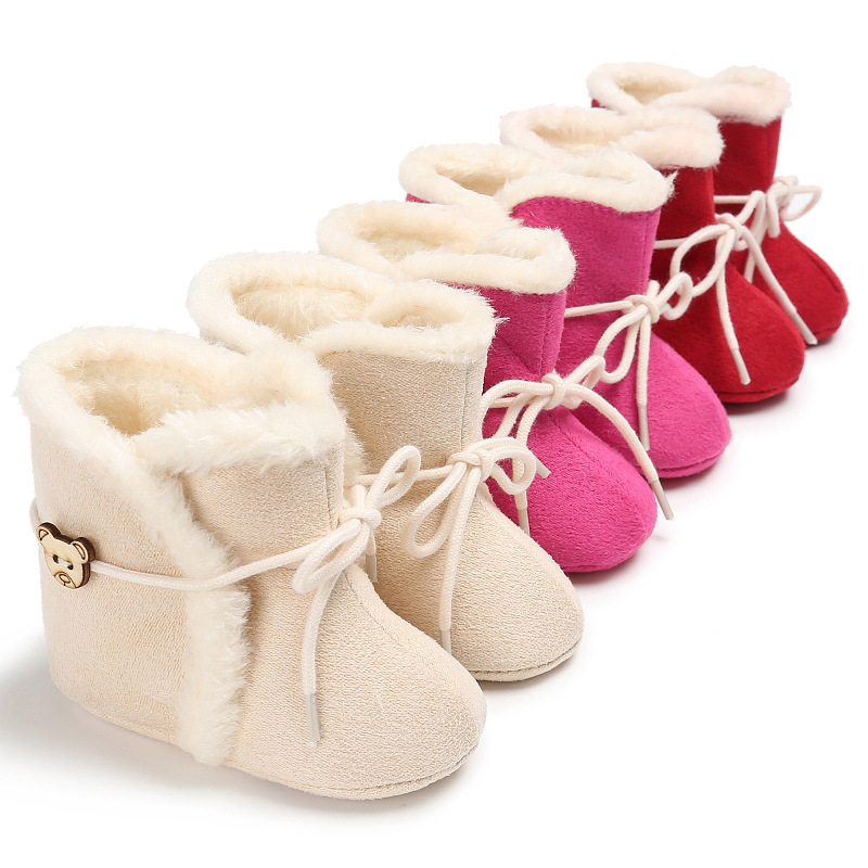 Winter 0-1 Years Old Warm Soft Snow Boots Baby Toddler Shoes
