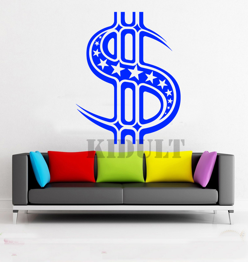 Household Items Home Decorations Dollar Sign Pattern Between Office Wall Decals Wall Stickers Vinyl Wall Decals Free Shipping