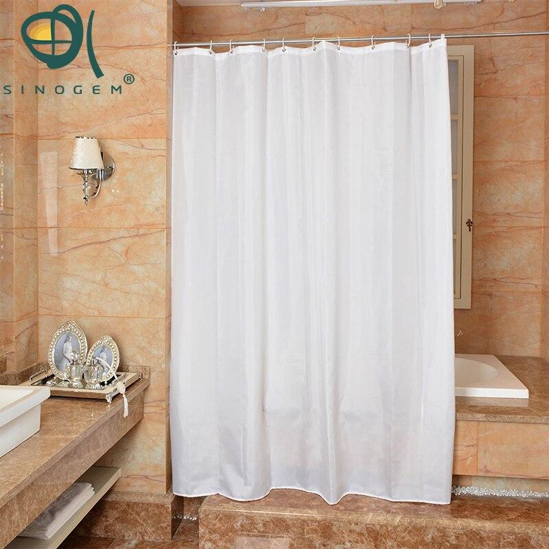 Sinogem White Polyester Bathroom Waterproof Mold Resistant