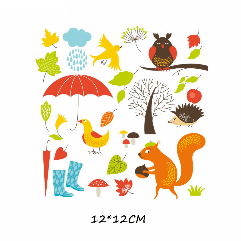 Железные милые нашивки в виде животных набор для детей Одежда DIY Футболка аппликация теплопередача виниловая нашивка единорога наклейки термопресс - Цвет: 541