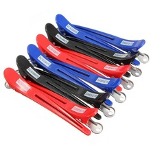 12pcs Pro Hairdressing Aluminum Plastic Clips Clamps Salon Barber Section Hair Grip Clip Styling Tools Accessories