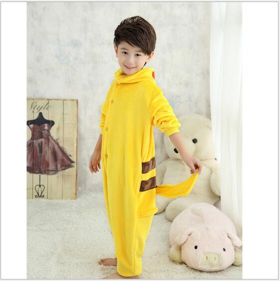 Halloween Cosplay Costume For Girls Boys Child Animal Onesie Pikachu Pajamas For Kids
