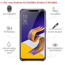 2PCS 2.5D 0.26mm 9H Premium Tempered Glass For Asus Zenfone 5Z ZS620KL Screen protective film For ASUS Zenfone 5 ZE620KL 6.2'' защитная пленка для мобильных телефонов nillkin 9h 5 5 asus zenfone 2