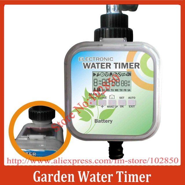 Solar powered 2 Modes LCD Electronic Water Timer,Solar & Rain Stop function Water Timer,Ball Valve Garden Water Timer