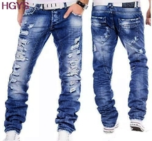 2017 hole cotton jeans cotton leisure high quality youth fashion jeans