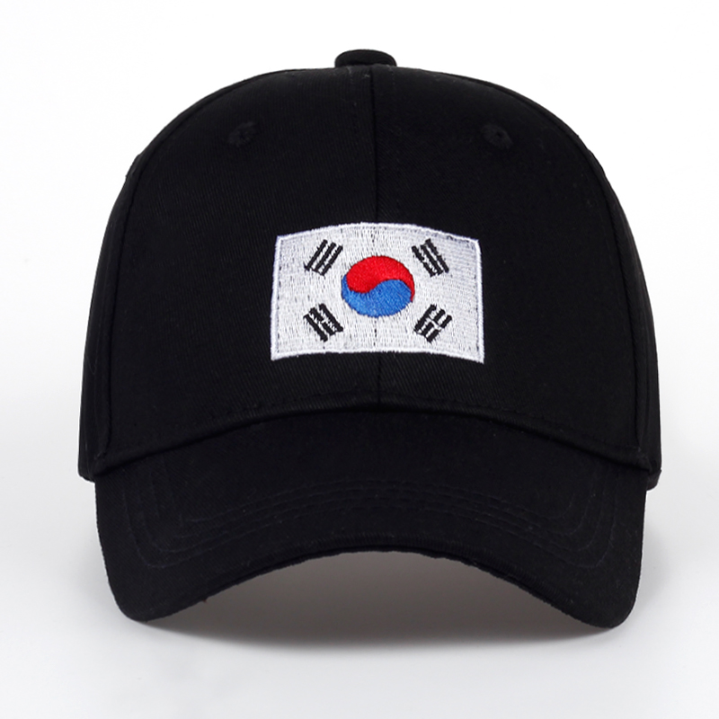 TUNICA 2017 New Korean Version of GD Baseball Cap Flag Of Korean Hat Cotton Snapback Hip Hop Cap Sun Hat Polo Bone Planas tunica 2017 fashion flame cotton hat fashion embroidery baseball cap hip hop hat men and women are applicable to the sun hat