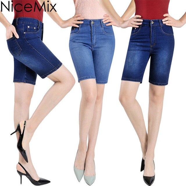 Aliexpress.com : Buy NiceMix Plus Size Cotton Jeans Shorts Women ...