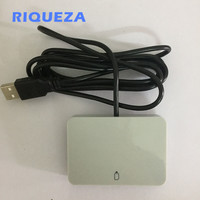 RIQUEZA Card Reader USB 2.0 2 in 1 ID 1/2FF 12 Mbps Support IC Smart Card Smart Card Reader 2G/3G/4G SIM Card Reader Writer