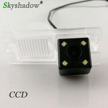 Car CCD 4LEDS Night Vision Backup Rear View Reversing Camera Waterproof Parking For Ssangyong Rexton Kyron Korando Actyon