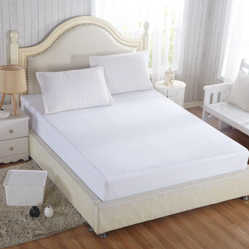 White Mattress Covers 100% Cotton Anti-Bacteria Home mattress protector Four-season Air-Permeable housse matelas Customized